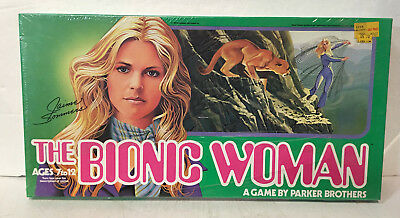 Vintage The Bionic Woman board game 1976 Parker Brothers factory sealed