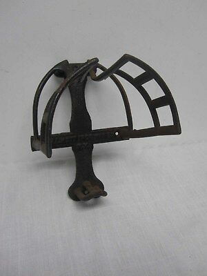 Antique J.l. Mott Iron Works Ny Cast Iron Equestrian Barn Wall Mount Bridle Rack