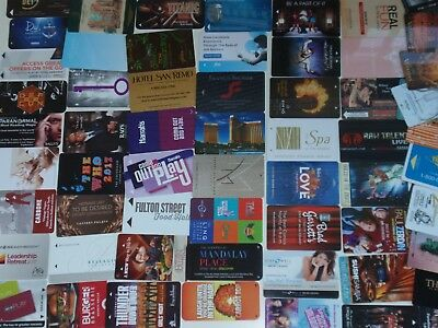 LAS VEGAS Room KEY Card LOT / COLLECTION Casino Hotel ~ 60 DIFF KEYS ~ in pages