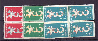 Luxembourg 1958 Europa ( 3 ) In Mnh Blocks Of 4 Cat £17