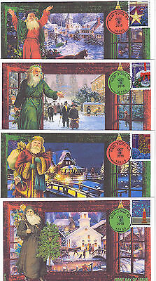 Jvc Cachets - 2016 Holiday Windows Issue First Day Cover Fdc Set Of 4 Christmas