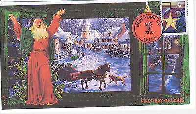 Jvc Cachets - 2016 Holiday Windows Issue First Day Cover Fdc Christmas Design #1