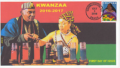 Jvc Cachets - 2016 Kwanzaa Issue First Day Cover Fdc Black Heritage Design #1