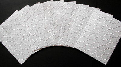 EMBOSSED WHITE PAPER  PACK x 10  SCRAPBOOKING/CARDMAKING/PAPERCRAFTS