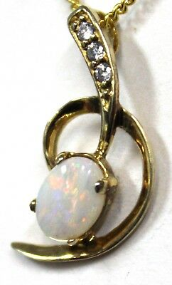 Natural Solid Crystal Opal Pendant Solid Silver Fire Opal Pendant