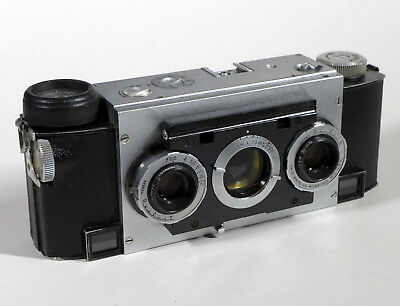 Stereo Realist f2.8 camera LATER MODEL (120,594) - w/Interesting features, wm