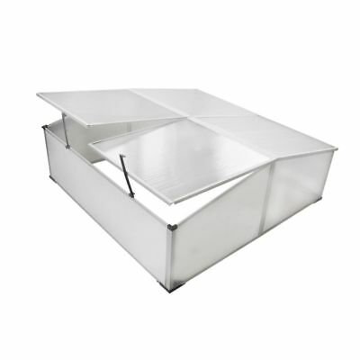 108cm Garden Mini Greenhouse Cold Frame 4 Lid Polycarbonate Cover Hot House Shed