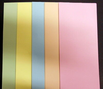 50 Papers 21cm x 9.5cm ~ 5 colours ~ great for SCRAPBOOKING/CARDMAKING