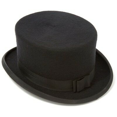 New Boxed Handmade Christy Horse Riding Top Hat Wool Felt Dressage Size 7 1/8