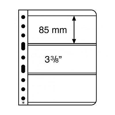 Vario Black 3S Stamp Sheets  with 3 pockets per side 84x195mm - pk 5