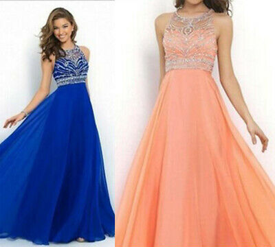 Women's Lace Long Formal Wedding Evening Ball Gown Party Prom Bridesmaid Dress