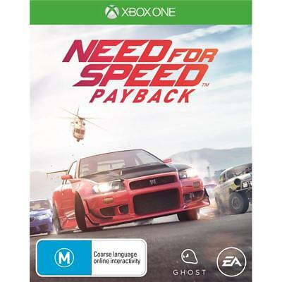 Need For Speed Payback Xbox one Games New Sealed Microsoft
