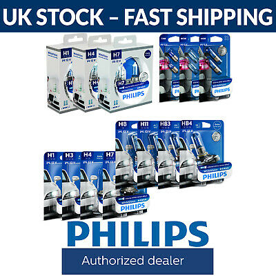 Philips WhiteVision Car Headlight Bulbs H1 H3 H4 H7 H8 HB3 HB4 H11 White Vision