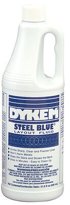 Dykem Engineers Steel Blue/Red Layout Fluid (930ml Bottle) & Remover and Prep