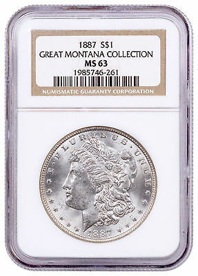 1887 Morgan Silver Dollar From the Great Montana Collection NGC MS63 SKU53869