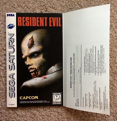 Please Read Only Instruction Manual for Resident Evil (Sega Saturn, 1997)