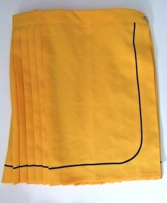 Ladies/Girls size 10 28in waist Yellow sports Netball skirt games mini skirt