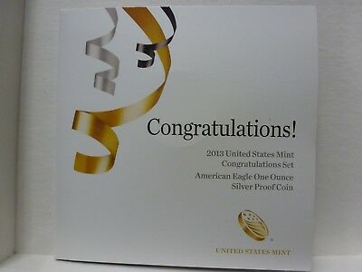 2013 W Silver Eagle Congratulations Set With Ogp Sold Out Low Mintage