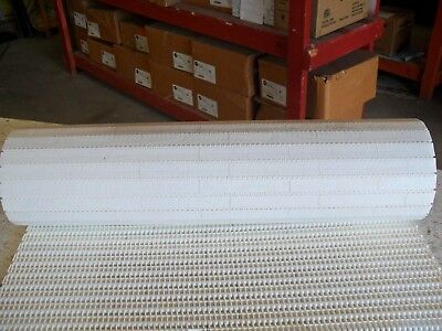 "QTY 8' long x 30"" wide, conveyor plastic chain belting,WHITE  Rexnord??"