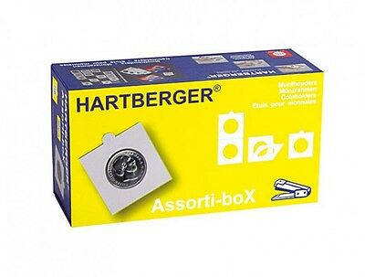 Lindner 8325 HARTBERGER Assorti-boX EURO, Coin holders non adhesive
