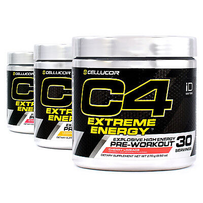 Cellucor C4 Extreme Pre-Workout Energy, Focus, Stamina and Endurance (30 Srv)