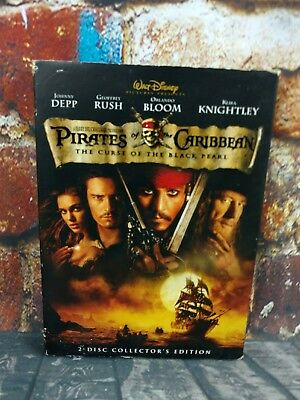 Pirates of the Caribbean: The Curse of the Black Pearl (DVD, 2003, 2-Disc Set