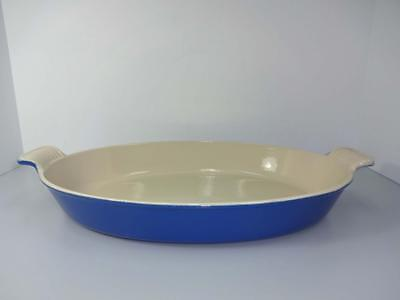 Le Creuset #36 French Blue Cast Iron/enamel Large Au Gratin Casserole Pan New!