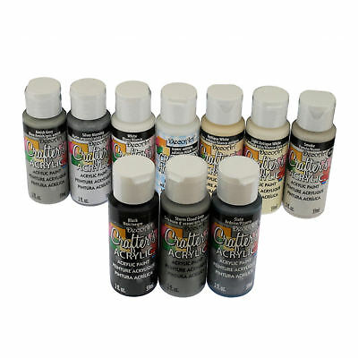 DecoArt Crafter's All Purpose Acrylic Paint 59ml - Grey Colours