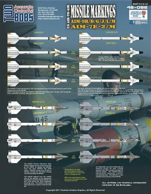 Two Bobs 1/48 48-086 AIM-9 Missile Markings