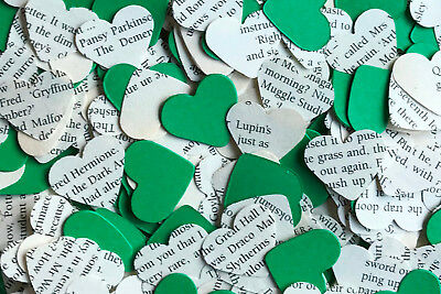 Heart Wedding Table Top Confetti/Decoration-Harry Potter & Green Paper-Slytherin