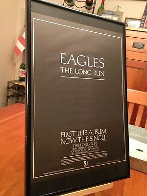 "3 Big 11X17 Framed Original The Eagles ""The Long Run"" Lp Album Cd Promo Ads"