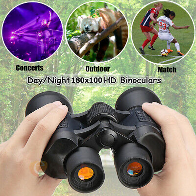 60x 50 Zoom Day Night Vision Outdoor HD Binoculars Hunting Telescope + Case Much