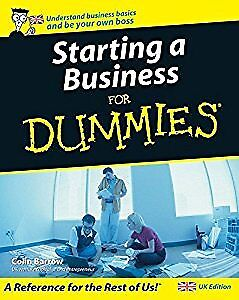Starting a Business For Dummies, Colin Barrow, Used; Acceptable Book
