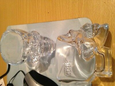 Crystal Head Vodka Skull Shot Glass New Collectible Promo Dan Akroyd Set of 2