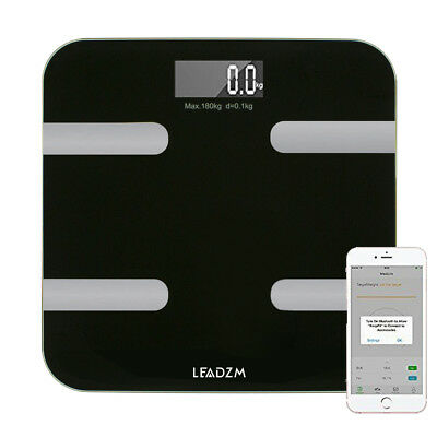 Bluetooth Smart Body Fat Scale Monitor Total Water Muscle and Bone With APP