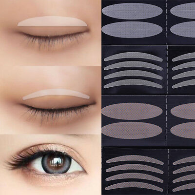 600Pcs Clear Beige Eyelid Stripe Invisible Double Fold Eyelid Shadow Sticker