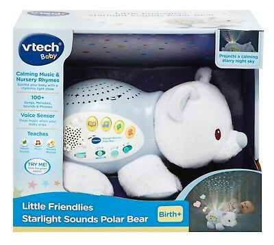 New Vtech - Baby Little Friendlies Starlight Sounds Polar Bear 506903