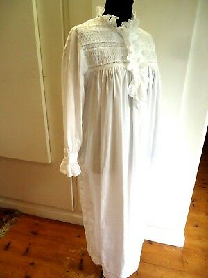 VINTAGE 1980s PAST TIMES VICTORIAN STYLE COTTON NIGHTDRESS ONE SIZE    [PTA001]