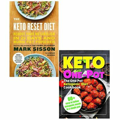Keto Reset Diet and One Pot Ketogenic Diet Cookbook 2 Books Collection Set NEW