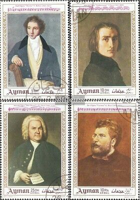 Ajman 425A-428A fine used / cancelled 1969 Paintings: Composers