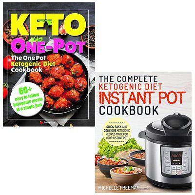 One Pot Ketogenic Diet Cookbook Keto Diet Instant Pot 2 Books Collection Set NEW