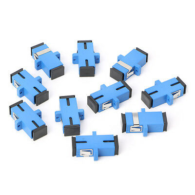 10PCS SC/UPC Fiber Optic Adapter SC Fiber Optic Flange Connector SC/UPC