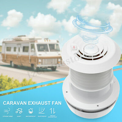 12V RV Motorhome Trailer Roof Vent Ventilation Cooling Exhaust Ceiling Fan 118mm