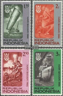 Indonesia 544-547 (complete issue) unmounted mint / never hinged 1966 Maritime