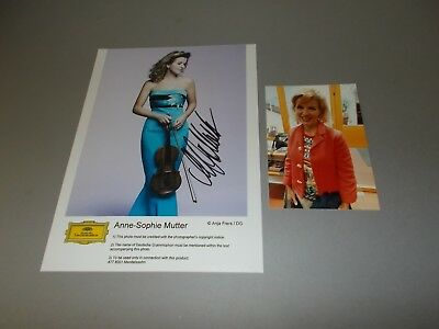 Anne-Sophie Mutter  violinist  signed autograph Autogramm 8x11 photo in person