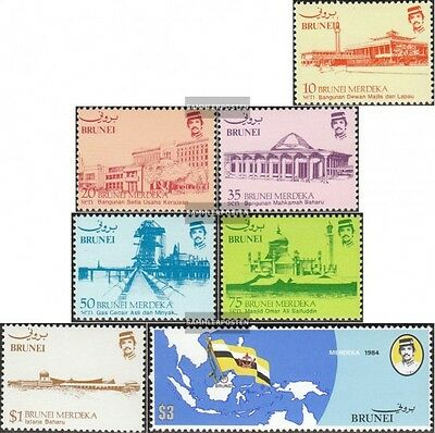 Brunei 288-294 mint never hinged mnh 1984 Independence
