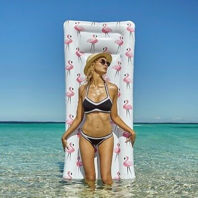 Flamingo Inflatable Mattress Pool Sun Lounger Lilo Air/Bed Swimming Suntanner