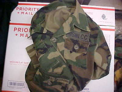 """FINAL LISTING BDU Woodland Trooper Blouse Chest up to 34 1/2"""" T12 FREE SHIP #n43"""