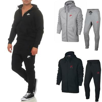 NIKE AIR HERITAGE Fleece Herren Trainingsanzug Hoodie Jogginghose Anzug  2-Teilig
