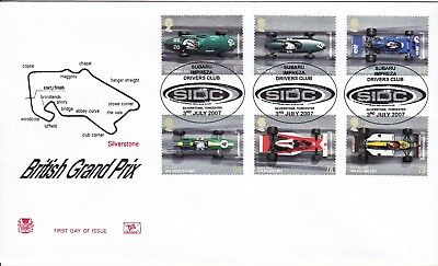 2007 Grand Prix Fdc Special Sidc Cancel Stuart Cover